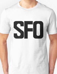 SFO San Francisco International Airport Black Ink T-Shirt