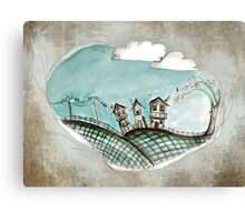Wacky village Canvas Print