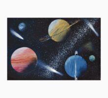 Spray Paint Space Kids Tee