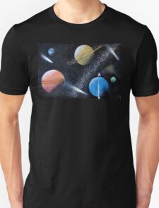 Spray Paint Space Unisex T-Shirt