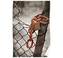 Rusty Chain & Lock Poster