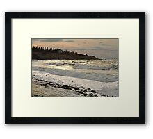 Chrome Afternoon Sea, Sandford N.S. Framed Print