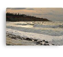 Chrome Afternoon Sea, Sandford N.S. Canvas Print