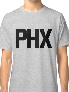 Phoenix Sky Harbor International Airport Black Ink Classic T-Shirt