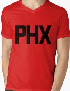 Phoenix Sky Harbor International Airport Black Ink Mens V-Neck T-Shirt