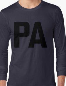 Pennsylvania PA Black Ink Long Sleeve T-Shirt