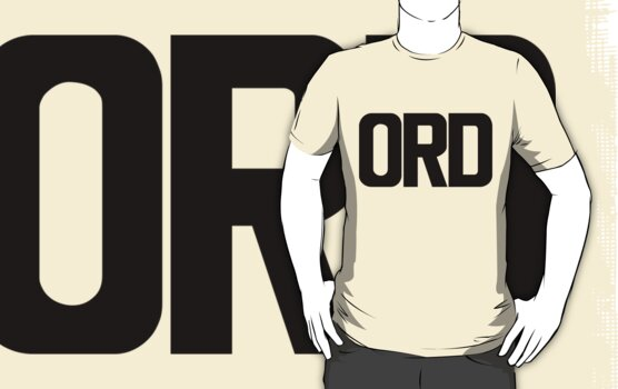 ORD O Hare International Airport Black Ink by FreshThreadShop
