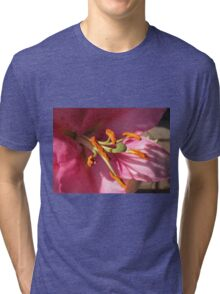 Sunlit Pink Lily in Macro Tri-blend T-Shirt