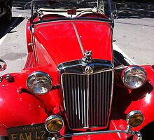 Red classic car by mary77