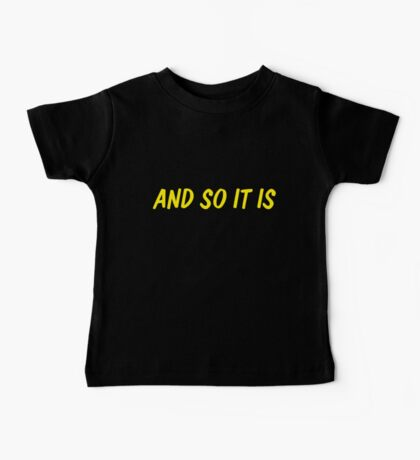 And so it is Baby Tee