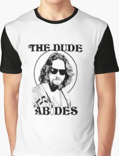The Big Lebowski Dude Abides Graphic T-Shirt