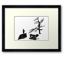 The Hobbit-Desolation Framed Print