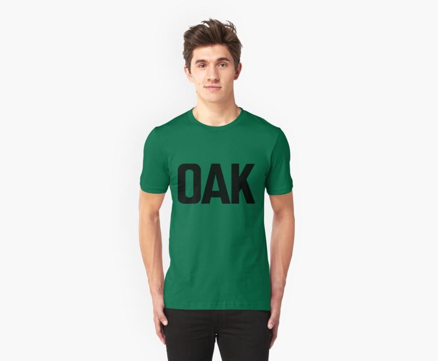 OAK Oakland International Airport Black Ink by FreshThreadShop