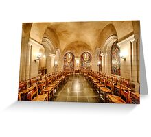 Cathedral Chapel II Greeting Card