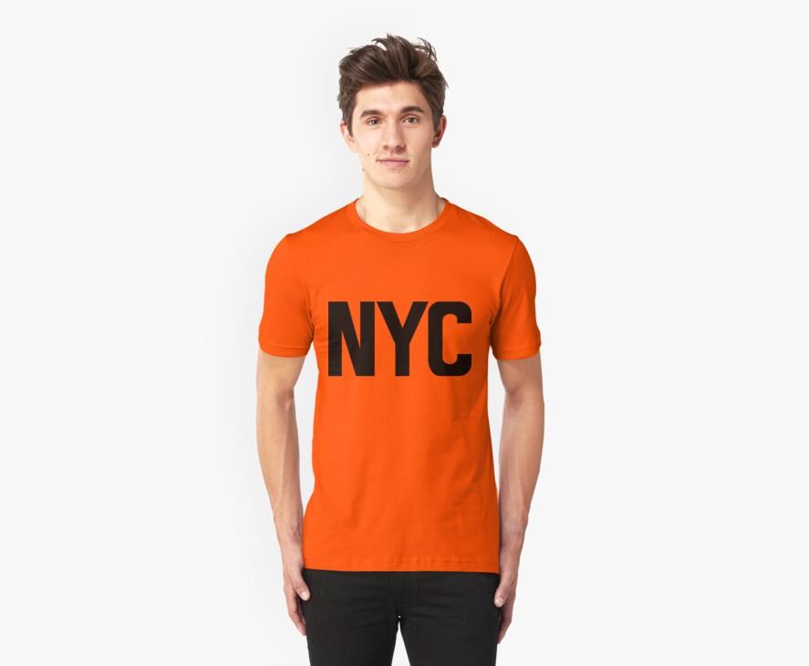 NYC New York City Black Ink by FreshThreadShop