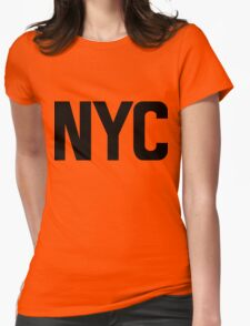 NYC New York City Black Ink Womens Fitted T-Shirt
