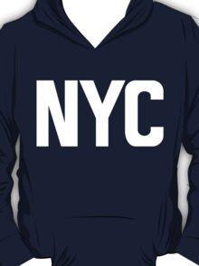 NYC New York City White Ink T-Shirt