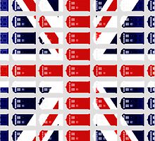 Phone Box British Flag by Hannah Rainwater by hannahrain