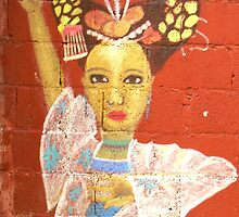 Street Art Series c Beautiful Woman by WhimsyvilleUSA