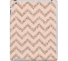 PINK GLITTER CHEVRON iPad Case/Skin
