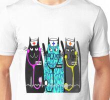 Whimsical Nurse Cats Unisex T-Shirt