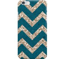 CHEVRON GLITTER-TEAL iPhone Case/Skin