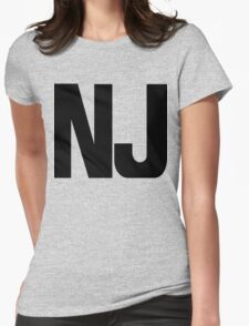 New Jersey NJ Black Ink Womens Fitted T-Shirt