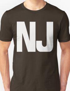 New Jersey NJ White Ink T-Shirt
