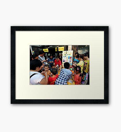 Puzzle Seller, Wuxi, Jiangsu Framed Print