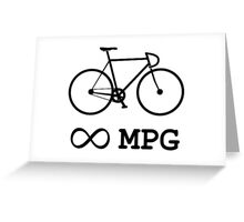 Bike Infinity MPG Bicycle Cycling Greeting Card