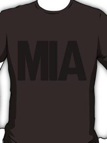 MIA Miami International Airport Black Ink T-Shirt