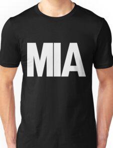 MIA Miami International Airport White Ink Unisex T-Shirt