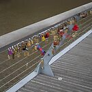 Love Locks on Yarra Bridge Melbourne by Pauline Tims