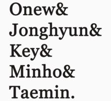 SHINee Member Names by dotygonegreen