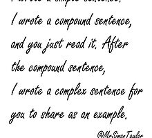 Simple Sentence by MrSimonTaylor