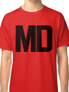 Maryland MD Black Ink Classic T-Shirt