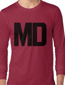 Maryland MD Black Ink Long Sleeve T-Shirt