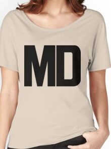 Maryland MD Black Ink Women's Relaxed Fit T-Shirt