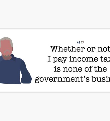 Income Tax Guy Parks and Recreation Sticker