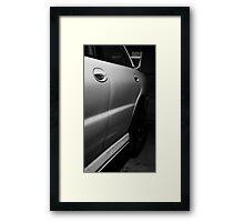 Side Profile Framed Print