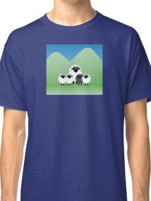 Cute Cartoon Sheep Family Classic T-Shirt