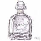 Patron Tequila Bottle by Linda Allan