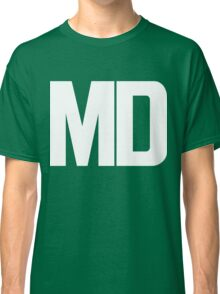 Maryland MD White Ink Classic T-Shirt