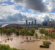 Calgary and Southern Alberta Flood 2013 - North End of Stampede Grounds by JamesA1