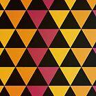 Pink & Gold Triangles by rhaneysaurus