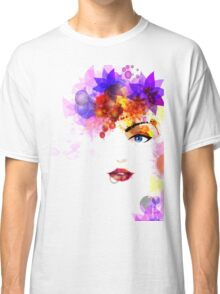 Colorful Flower Women Classic T-Shirt