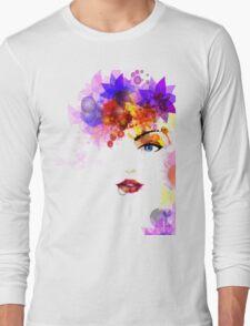 Colorful Flower Women Long Sleeve T-Shirt