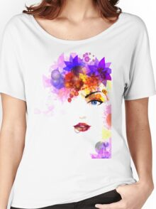Colorful Flower Women Women's Relaxed Fit T-Shirt
