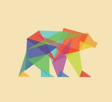 Fractal Geometric Bear by Budi Kwan