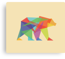 Fractal Geometric Bear Canvas Print